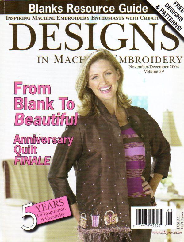 I Found Designs In Machine Embroidery Magazine Novdec 04 Eileen