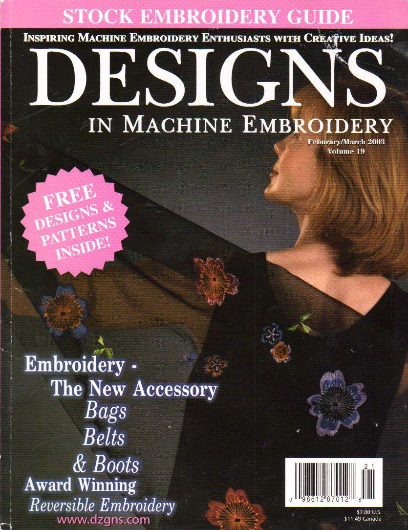 I Found Designs In Machine Embroidery Magazine Febmar 03 Eileen