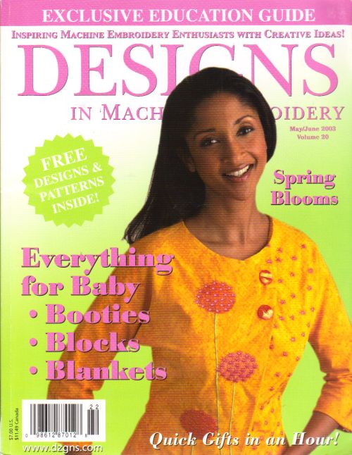 I Found Designs In Machine Embroidery Magazine Mayjun 03 Eileen